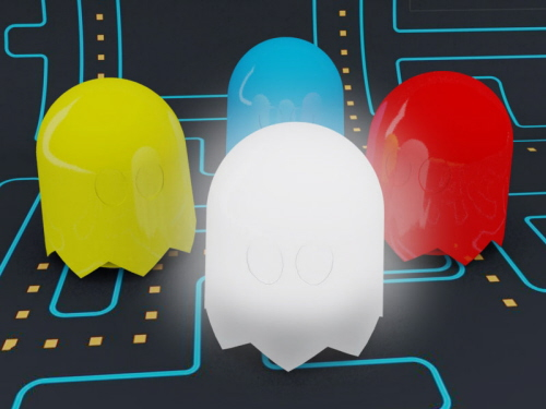 Pac Man ghost lamps