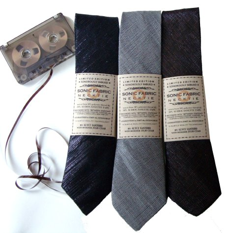 Playable-Sonic-Fabric-Neckties-Made-from-Old-Audio